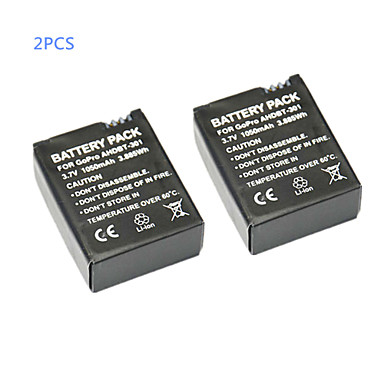 batterij Geschikt, Voor-Actiecamera,Gopro 3 Gopro 3+ Metaal