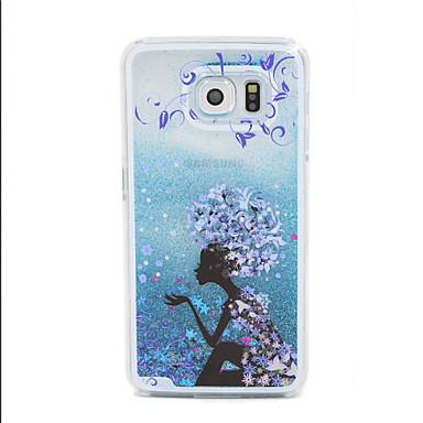 Capinha Para Samsung Galaxy Samsung Galaxy Capinhas Liquido Flutuante Capa traseira Desenho Animado PC para S6 edge S6