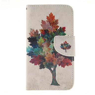 Para Samsung Galaxy Capinhas Porta-Cartão / Carteira / Com Suporte / Flip Capinha Corpo Inteiro Capinha Árvore Couro PU SamsungS6 edge /