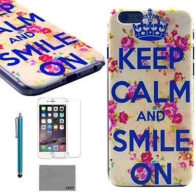 Voor iPhone 6 hoesje / iPhone 6 Plus hoesje Patroon hoesje Achterkantje hoesje Woord / tekst Hard PC iPhone 6s Plus/6 Plus / iPhone 6s/6