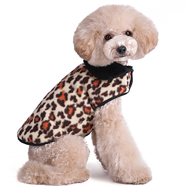 Γάτα Σκύλος Veste Ρούχα για σκύλους Διατηρείτε Ζεστό Μοντέρνα Μαύρο Ματ Κόκκινο Ροζ Χρώμα Παραλλαγής Χρυσαφί Λεοπαρδαλί Στολές Για