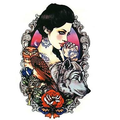 Séries Animal / Séries Flores / Séries Totem / Outros-Brand New-Tatuagem Adesiva-Non Toxic / Estampado / Tamanho Grande / Tribal / Lombar