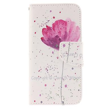 Capinha Para Samsung Galaxy Samsung Galaxy Capinhas Porta-Cartão Carteira Com Suporte Flip Capa Proteção Completa Flor PU Leather para S6