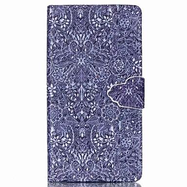 Για Θήκη Sony Πορτοφόλι / Θήκη καρτών / με βάση στήριξης / Ανοιγόμενη tok Πλήρης κάλυψη tok Λουλούδι Σκληρή Συνθετικό δέρμα για SonySony