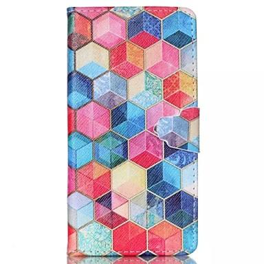 Για Θήκη Huawei / P8 Lite Πορτοφόλι / Θήκη καρτών / με βάση στήριξης / Ανοιγόμενη tok Πλήρης κάλυψη tok Γεωμετρικά σχήματα Σκληρή