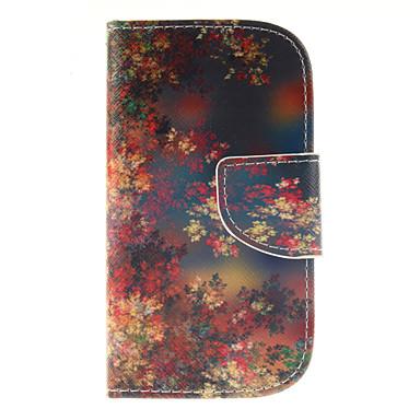 Para Samsung Galaxy Capinhas Carteira / Porta-Cartão / Com Suporte / Flip Capinha Corpo Inteiro Capinha Flor Couro PU Samsung S3 Mini