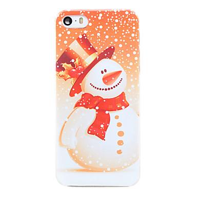 Estilo do Natal do boneco de neve pattern transparente pc Capa para iPhone 5 / 5s