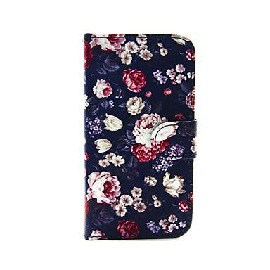 Για Θήκη iPhone 5 Πορτοφόλι / με βάση στήριξης / Ανοιγόμενη tok Πλήρης κάλυψη tok Λουλούδι Σκληρή Συνθετικό δέρμα iPhone SE/5s/5