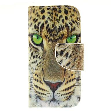 Para Samsung Galaxy Capinhas Carteira / Porta-Cartão / Com Suporte / Flip Capinha Corpo Inteiro Capinha Animal Couro PU Samsung S3 Mini