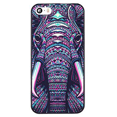 красочные слона шаблон PC Back чехол для iPhone 5 / 5s