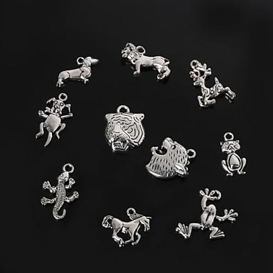 beadia metalen dier charme hangers oud zilver diy sieraden accessoires