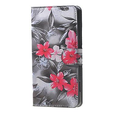 tok Για BLU Θήκη BLU Θήκη καρτών Πορτοφόλι με βάση στήριξης Ανοιγόμενη Με σχέδια Πλήρης Θήκη Λουλούδι Σκληρή PU δέρμα για