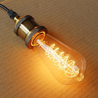 1kpl 40W E26/E27 ST64 2300 K Himmennetty Vintage Edison-hehkulamppu AC 220V AC 220-240V V