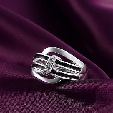 Dames Statement Ring Verzilverd Modieus Bruiloft Feest Dagelijks Causaal Kostuum juwelen