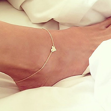 Anklet Chains Body Chain - Gold Plated Heart Unique Design, Simple Style, Fashion Golden For Party / Daily / Beach / Women's