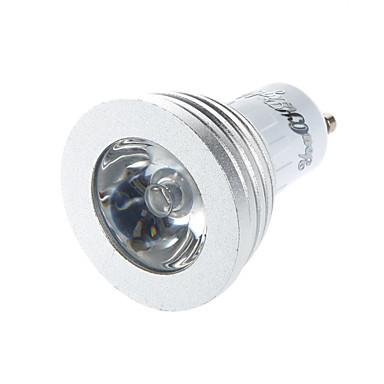 GU10 Lâmpadas de Foco de LED G50 1 leds LED de Alta Potência Controle Remoto Decorativa RGB 260lm RGBK AC 85-265V