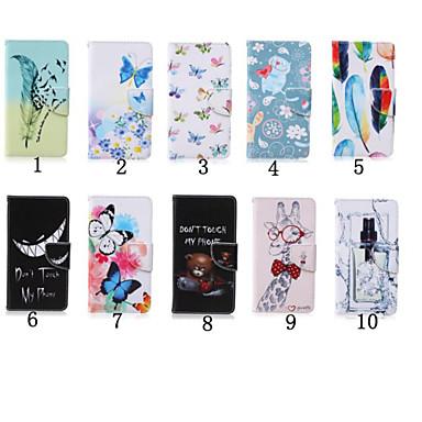 4 inch speciaal patroon pu portemonnee lederen tas met standaard voor ipod touch 5 / touch 6 (diverse kleuren)