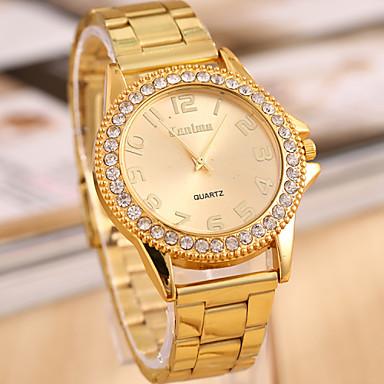 Dames Modieus horloge Kwarts imitatie Diamond Legering Band Goud