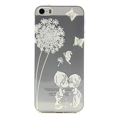 Para Capinha iPhone 5 Case Tampa Estampada Capa Traseira Capinha dandelion Macia PUT para iPhone SE/5s iPhone 5
