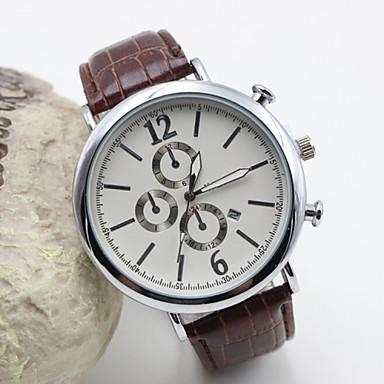 Dames Modieus horloge Kwarts Leer Band Zwart Bruin Zwart Bruin