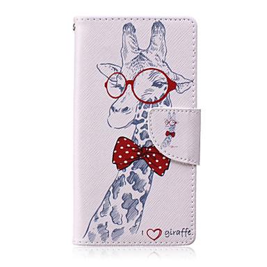 giraf geverfd pu telefoon tasje voor huawei p8 lite cases / covers voor huawei