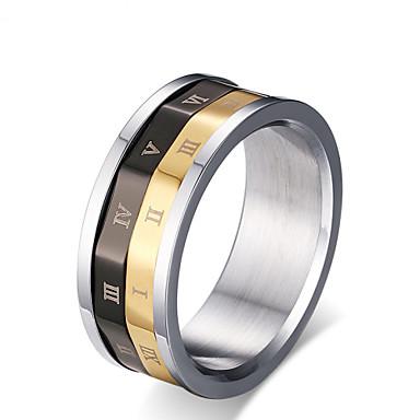 Homens Anéis Grossos Moda bijuterias Aço Titânio Jóias Para Casamento Festa Diário Casual