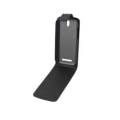 Voor HTC hoesje Flip hoesje Volledige behuizing hoesje Effen kleur Hard PU-leer HTC