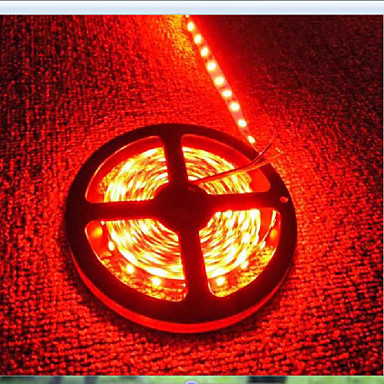 600 LEDs Vermelho Cortável Recarregável Impermeável Auto-Adesivo DC 12V