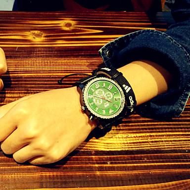 Χαμηλού Κόστους Ανδρικά ρολόγια-Ανδρικά Ρολόι Καρπού Χαλαζίας σιλικόνη Μαύρο LED Αναλογικό Φυλαχτό Μοναδικό Watch Creative - Μαύρο / Άσπρο Πράσινο / Μαύρο Μαύρο / Μπλε Ενας χρόνος Διάρκεια Ζωής Μπαταρίας / Ανοξείδωτο Ατσάλι