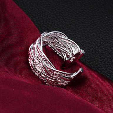 Dames Bandringen Verstelbaar Kostuum juwelen Sterling zilver Sieraden Voor Bruiloft Feest Dagelijks Causaal