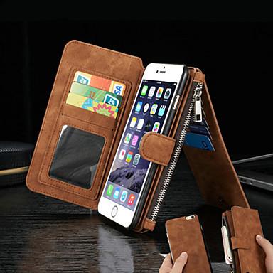 Pouzdro Uyumluluk Apple iPhone 8 iPhone 8 Plus iPhone 6 iPhone 6 Plus Kart Tutucu Cüzdan Satandlı Flip Tam Kaplama Kılıf Tek Renk Sert