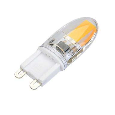 g9 vezetett kétpólusú fények t 1 cob 300lm meleg fehér hideg fehér 3000-3500k / 6000-6500k dimmable ac 220-240v