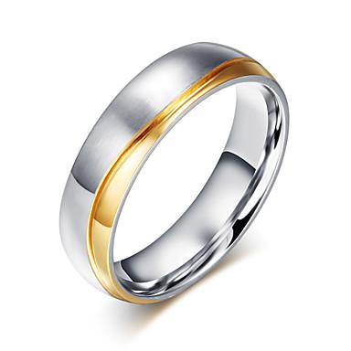 Bandringen Titanium Staal Modieus Zilver Sieraden Bruiloft Feest Dagelijks Causaal 1 stuks