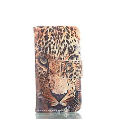 Para Capinha iPhone 5 Carteira / Porta-Cartão / Com Suporte / Flip / Estampada Capinha Corpo Inteiro Capinha Animal Rígida Couro PUiPhone