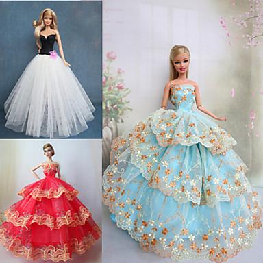 Prenses Elbiseler İçin Barbie Bebek Elbiseler İçin Kız Oyuncak bebek