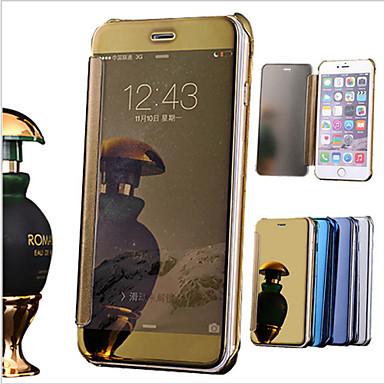 Capinha Para Apple iPhone 6 iPhone 6 Plus Galvanizado Espelho Flip Capa Proteção Completa Côr Sólida Rígida PU Leather para iPhone 8 Plus
