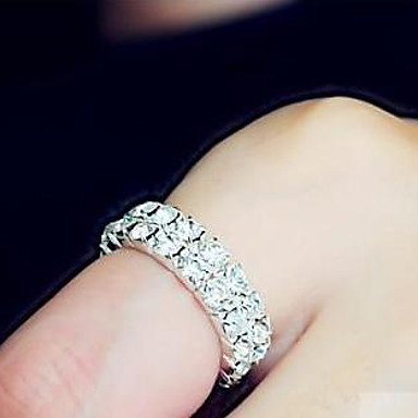 Ringen Dames Bergkristal Licht Metaal Licht Metaal Verstelbaar Zilver