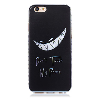 nieuwe tand patroon golven slip handvat TPU soft phone case voor de iPhone 6 plus / 6s plus