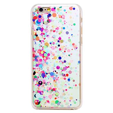 πολύχρωμα στρογγυλά-dot μοτίβο διαφανή pc πίσω κάλυψη για το iphone 6 συν