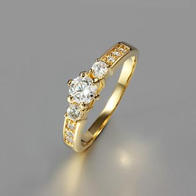 Dames Verguld Bandring - Modieus Gouden Ring Voor Bruiloft / Feest / Dagelijks