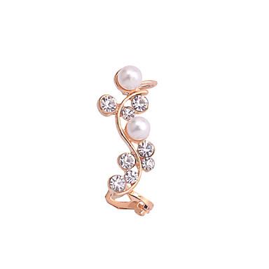 Punhos da orelha Jóias de Luxo Pérola Cristal Chapeado Dourado imitação de diamante Dourado Jóias Para Festa Diário Casual 1peça