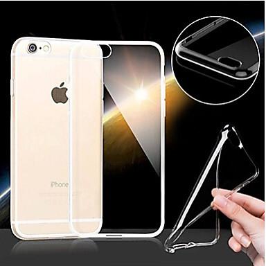 Voor iPhone 6 hoesje / iPhone 6 Plus hoesje Ultradun / Transparant hoesje Achterkantje hoesje Effen kleur Zacht TPUiPhone 6s Plus/6 Plus