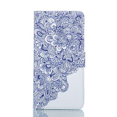 flor cartão de teste padrão ficar estojo de couro para Samsung Galaxy S5 / S5 Mini / borda S6 / S6
