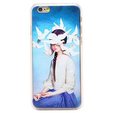 περιστέρια κορίτσι μοτίβο διαφανή pc πίσω κάλυψη για το iphone 6 συν