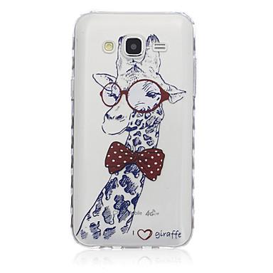 Para Samsung Galaxy Capinhas Transparente / Estampada Capinha Capa Traseira Capinha Animal TPU SamsungJ7 / J5 / J3 / J2 / J1 Ace / J1 /