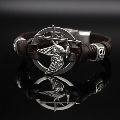 Dames Lederen armbanden Vintage Informeel Modieus Leder Sieraden Dagelijks Kostuum juwelen Zwart Bruin