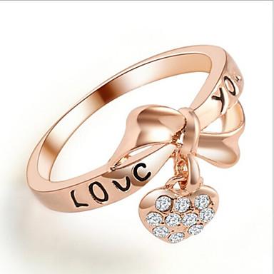 Statementringen Strass Legering Hartvorm Gouden Sieraden Bruiloft Feest Dagelijks Causaal 1 stuks