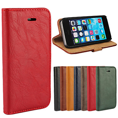 Voor iPhone 6 hoesje / iPhone 6 Plus hoesje Portemonnee / Kaarthouder / met standaard / Flip hoesje Volledige behuizing hoesje Effen kleur