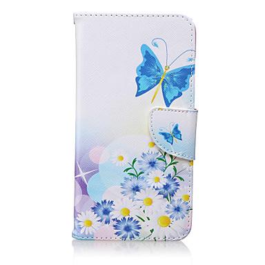 vlinder patroon pu leer materiaal flip-kaart telefoon Case voor iPhone 6 plus / 6s plus