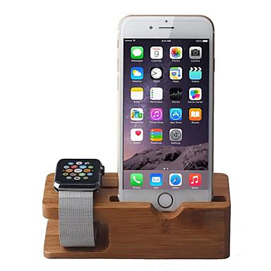 ρολόι μήλων και iPhone πολλαπλών λειτουργιών φόρτισης ξύλινο περίπτερο τερματοφύλακα κάτοχος iWatch περίπτερο ασύρματη φόρτιση